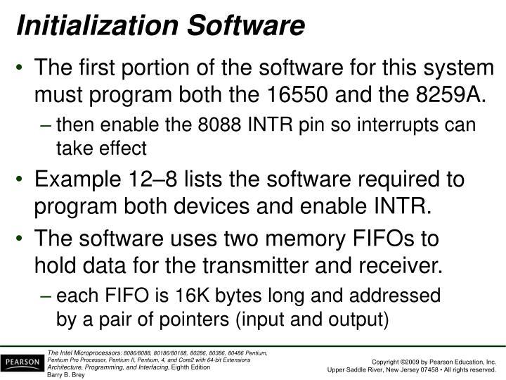 Initialization Software