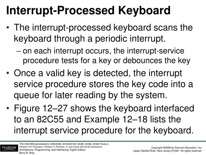 Interrupt-Processed Keyboard
