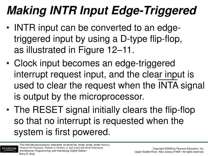 Making INTR Input Edge-Triggered