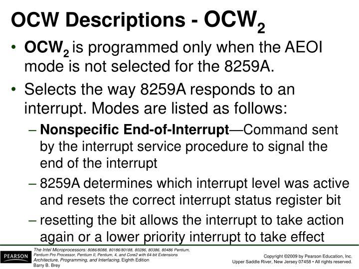 OCW Descriptions -