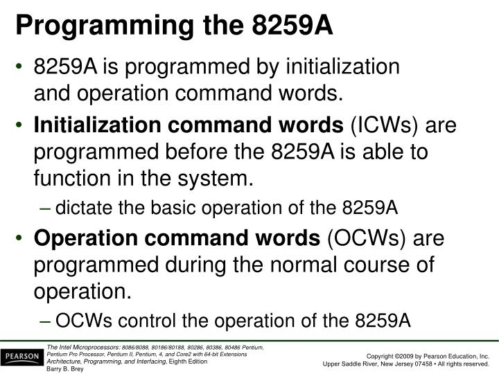 Programming the 8259A