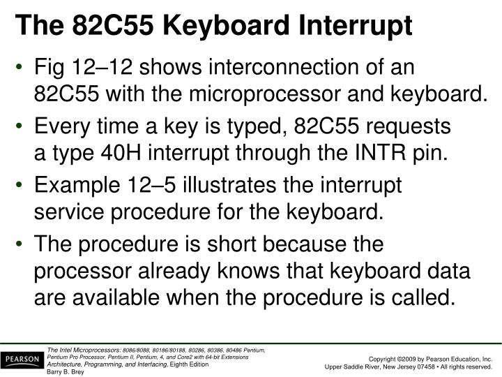 The 82C55 Keyboard Interrupt