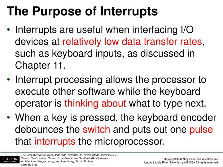 The Purpose of Interrupts
