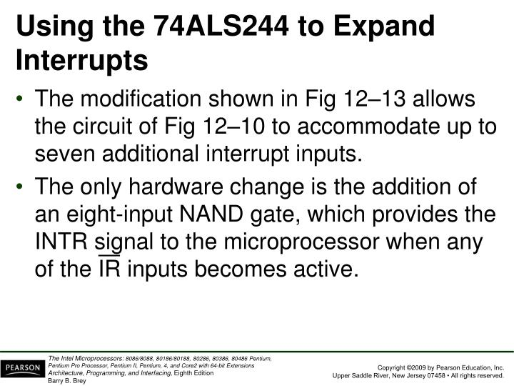 Using the 74ALS244 to Expand Interrupts