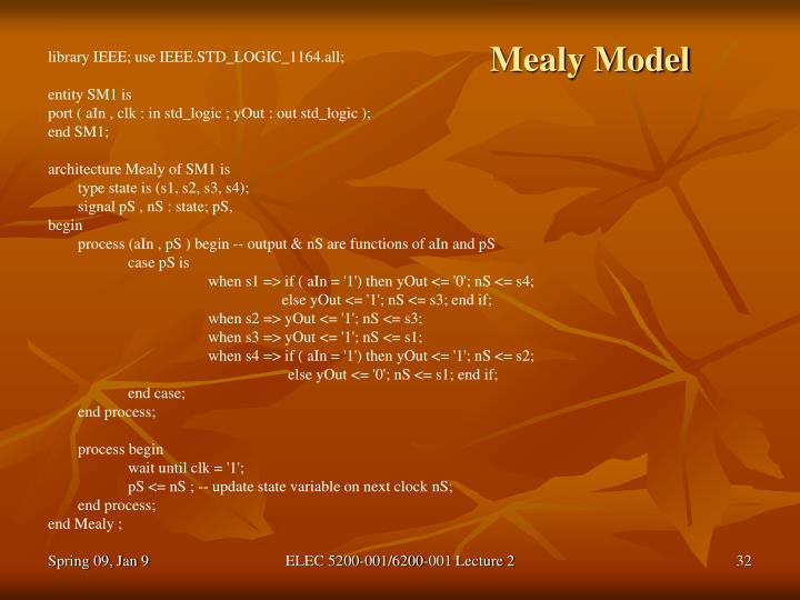 Mealy Model