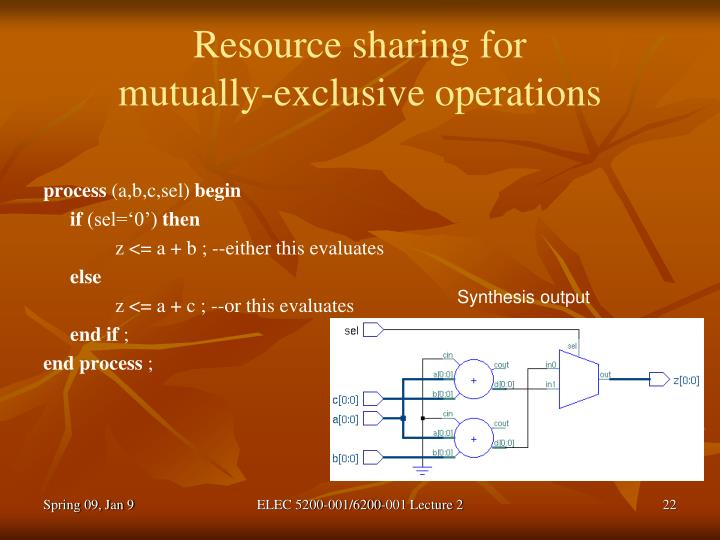 Resource sharing for