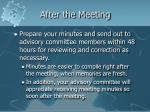 after the meeting