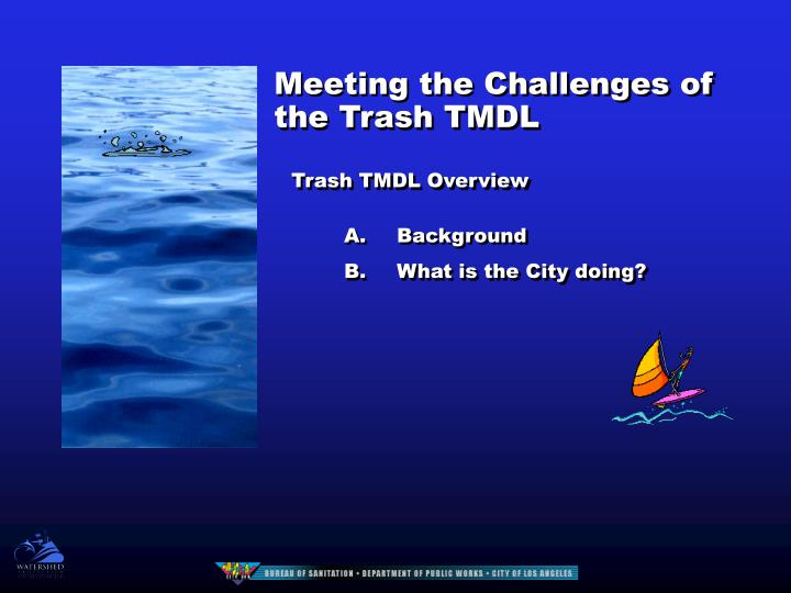 Meeting the Challenges of the Trash TMDL