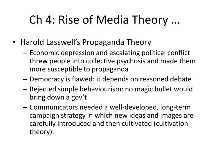 Ch 4: Rise of Media Theory …