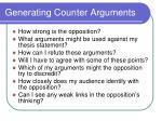 generating counter arguments