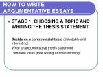 how to write argumentative essays