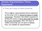 sample argumentative thesis statements2