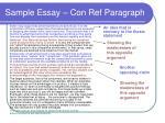 sample essay con ref paragraph