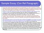 sample essay con ref paragraph1