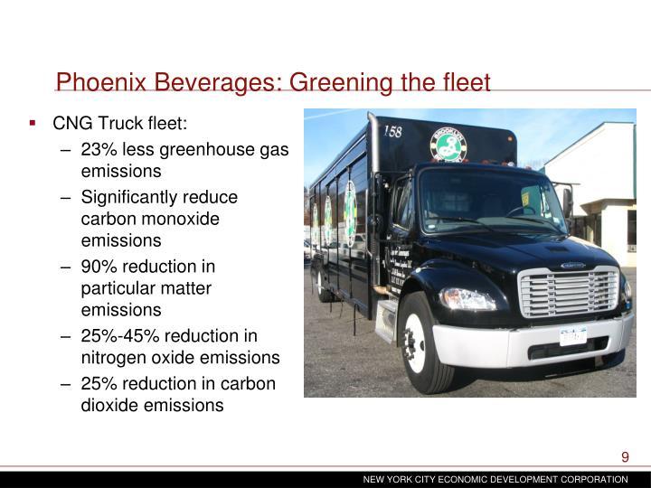 Phoenix Beverages: Greening the fleet