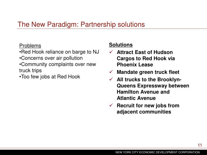 The New Paradigm: Partnership solutions