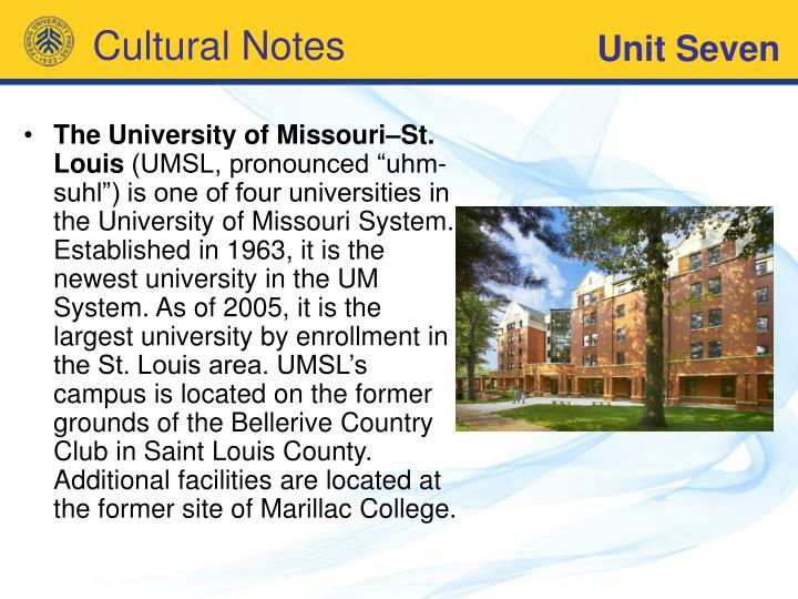 The University of Missouri–St. Louis