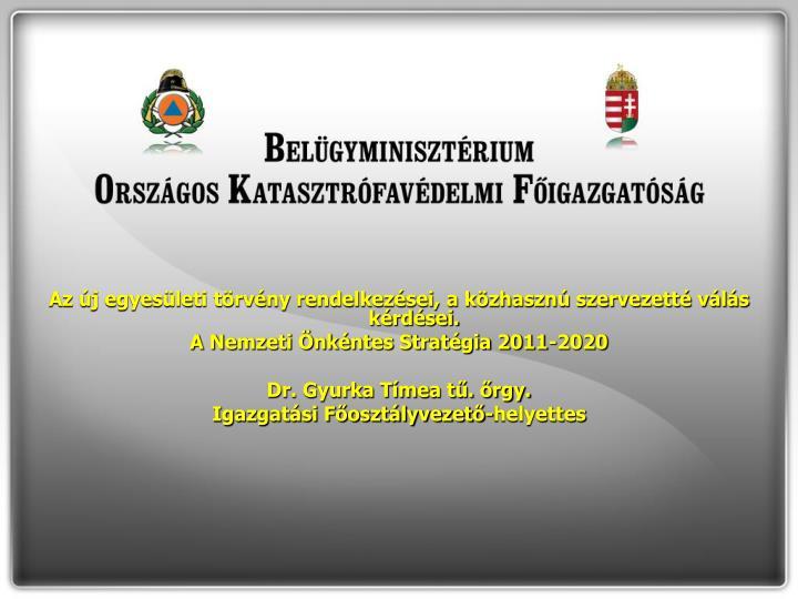 Az új egyesületi törvény rendelkezései, a közhasznú szervezetté válás kérdései.