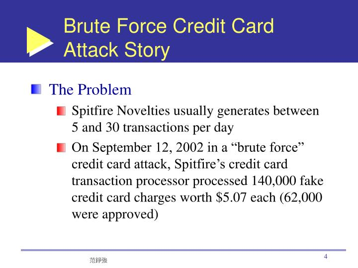 Brute Force Credit Card Attack Story