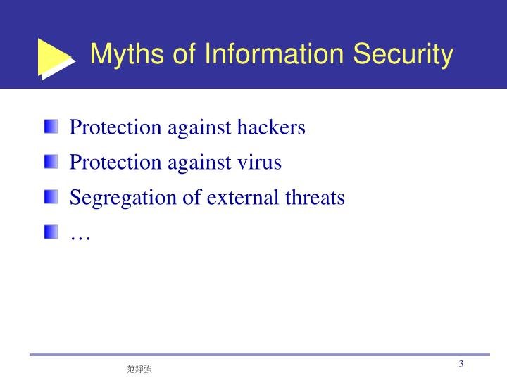 Myths of Information Security