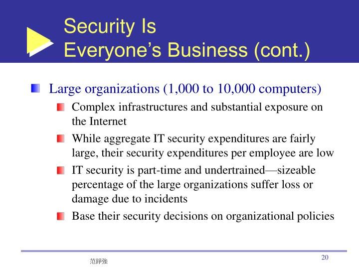 Security Is