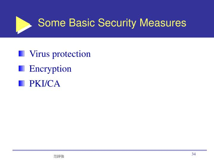 Some Basic Security Measures