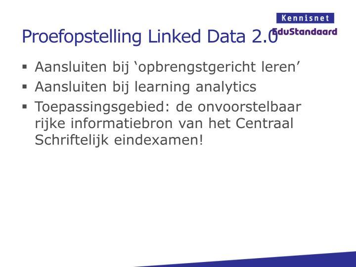 Proefopstelling Linked Data 2.0