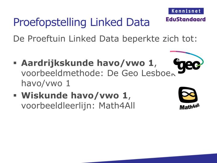 Proefopstelling Linked Data