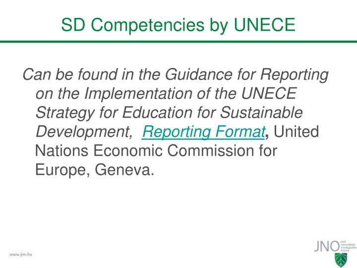 SD Competencies by UNECE
