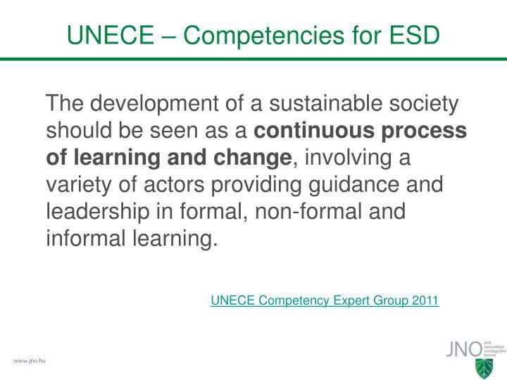 UNECE – Competencies for ESD