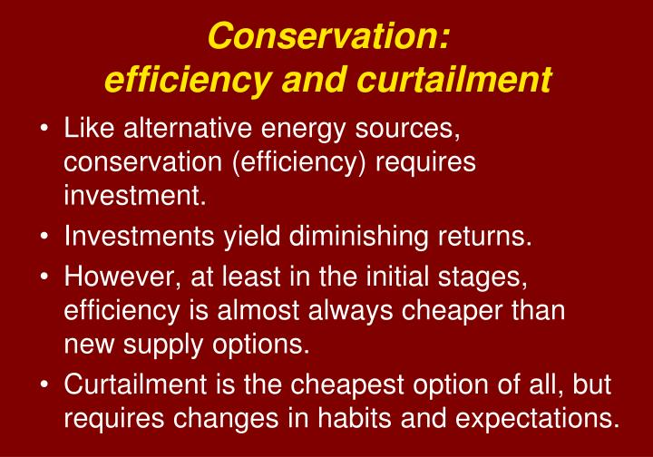 Conservation: