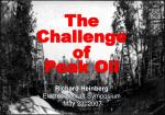 peak oil opportunities and challenge at the end of cheap petroleum