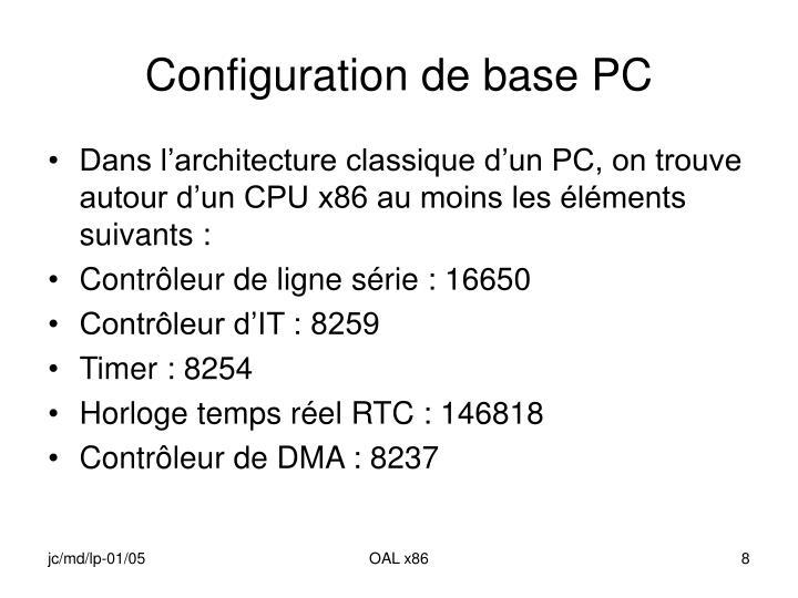 Configuration de base PC
