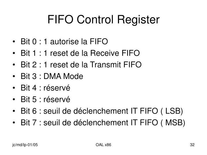 FIFO Control Register