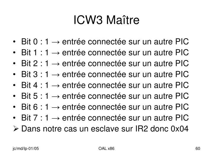 ICW3 Maître