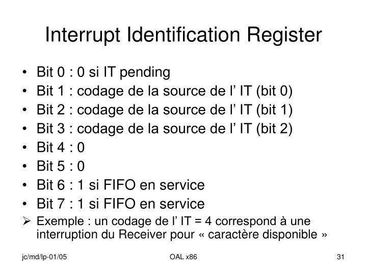 Interrupt Identification Register