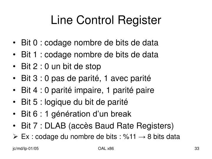 Line Control Register