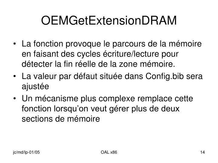 OEMGetExtensionDRAM
