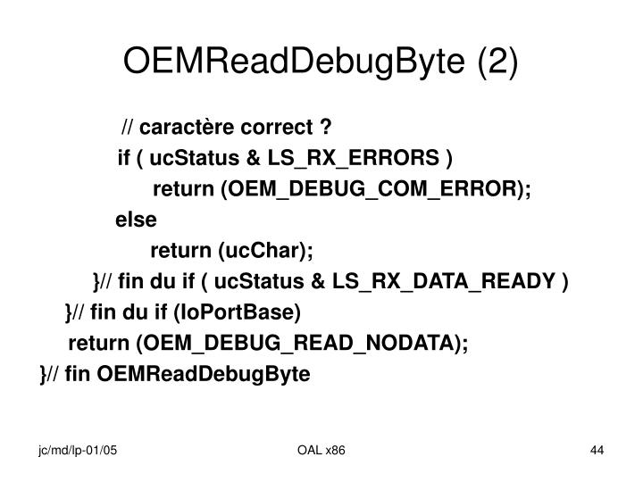 OEMReadDebugByte (2)
