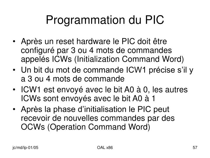Programmation du PIC