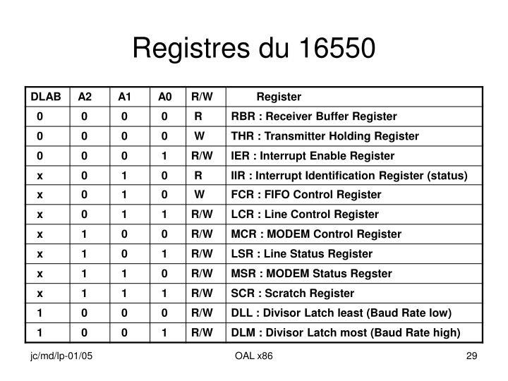 Registres du 16550