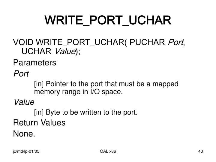 WRITE_PORT_UCHAR