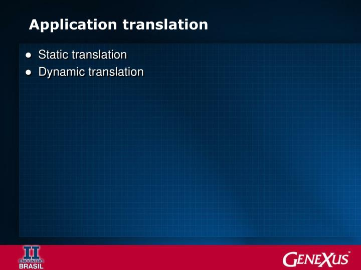 Application translation
