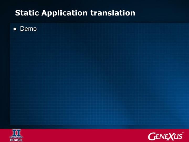Static Application translation