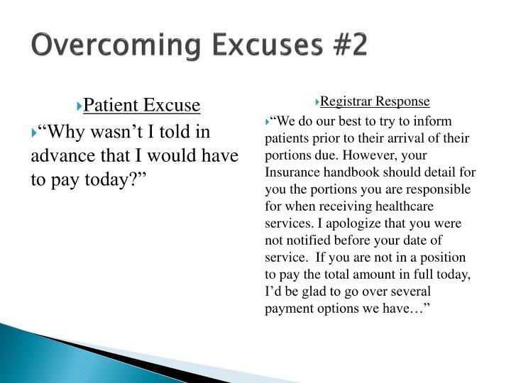 Overcoming Excuses #2