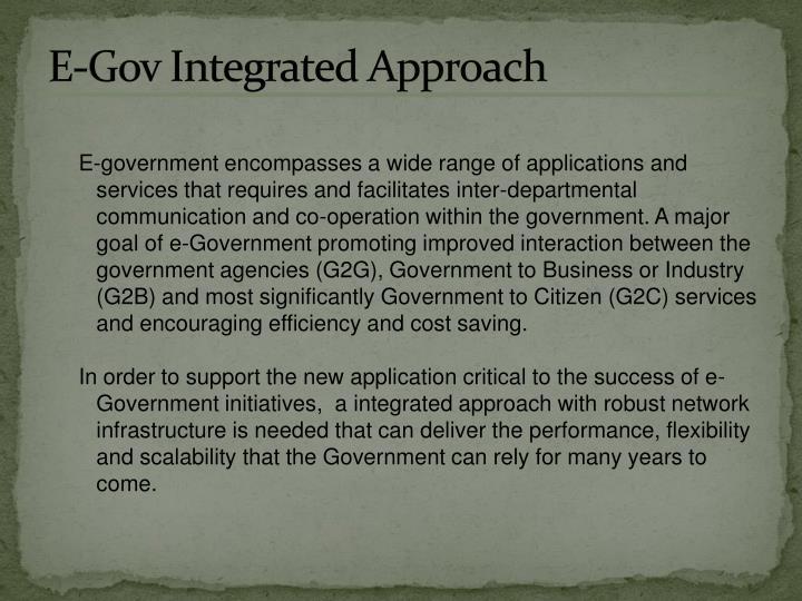 E-Gov Integrated Approach