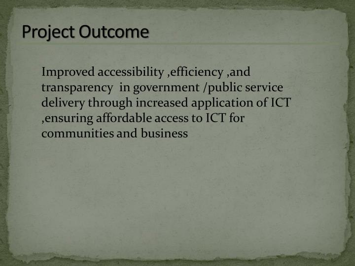 Project Outcome