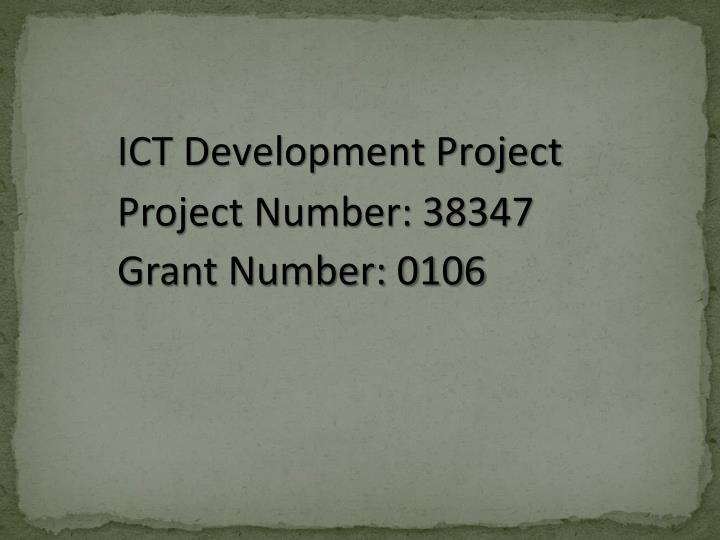 Project Number: 38347