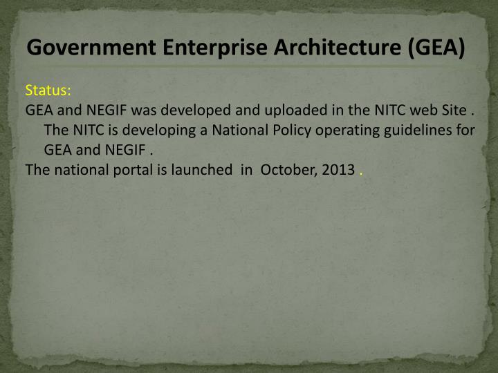 Government Enterprise Architecture (GEA)
