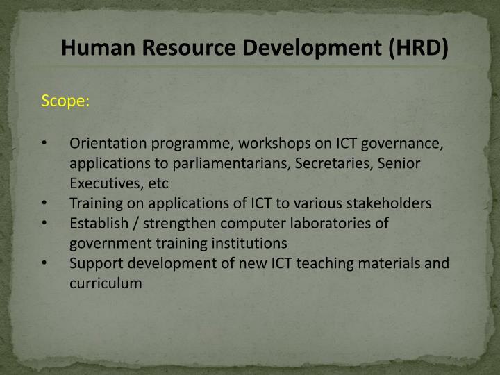 Human Resource Development (HRD)